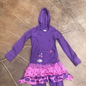 Naartjie kids purple boutique outfit